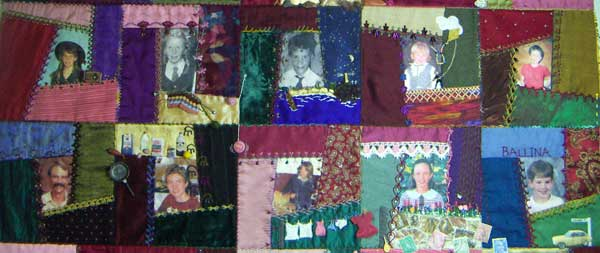 Last join on mums quilt