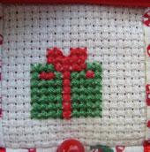 Nativity calendar 3rd December - cross stitch gift