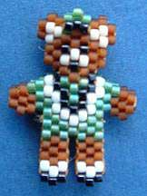 Beaded Raiders Bear Magnified