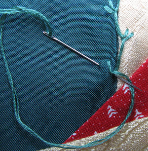 how to add an extra branch to feather stitch