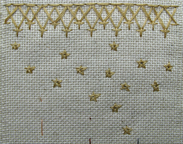 Chevron Stitch and Stars