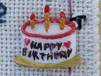 Painted Birthday Cake charm