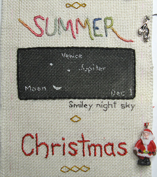 December on my sampler