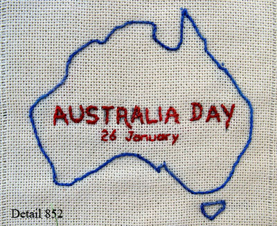 Australia Day on my Sampler