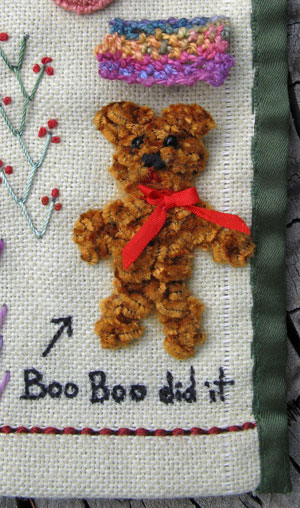 Boo Bo my Trellis Stitch Teddy Bear