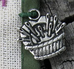 Needlework charm to mark sampler anniversaries