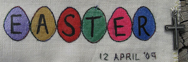 easter eggs Painted on Sampler
