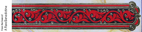 Pattern on the cover of A Rare Benedictine