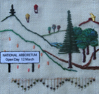 knotted loop stitch trees