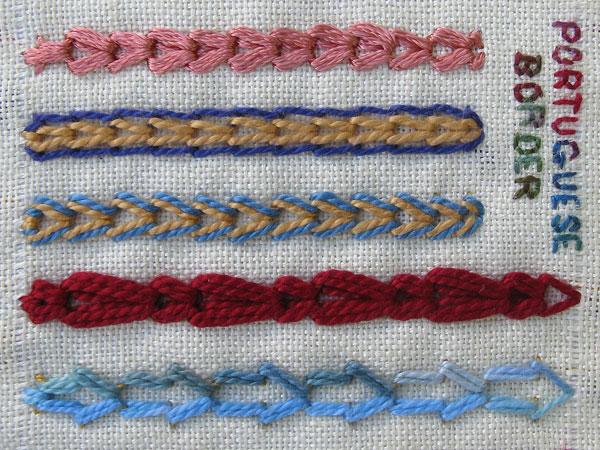 Portuguese border stitch