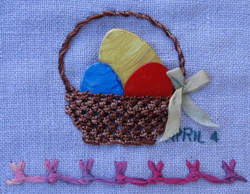 Knotted buttonhole stitch and easter
