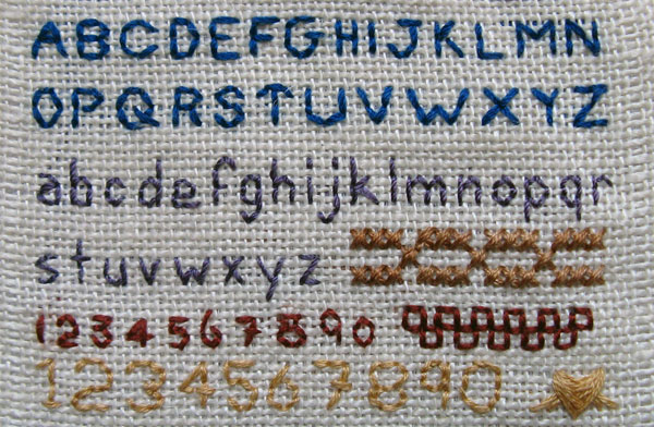 Backstitch Alphabet