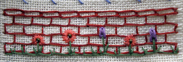 Buttonhole stitch bricks