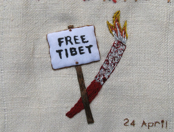 Free Tibet and Olympic Torch