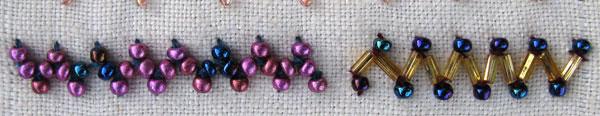 Cretan Stitch with beads