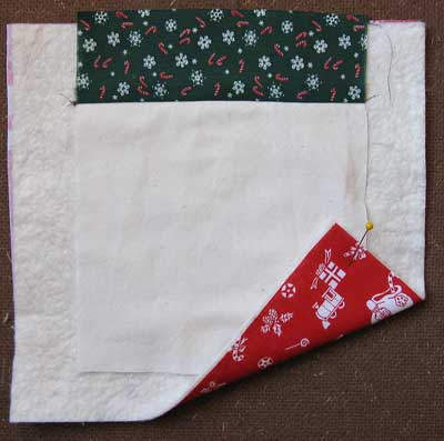 How to make a Santa Pocket Step 2