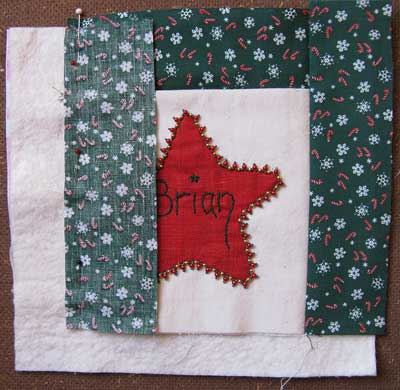 How to make a Santa Pocket Step 3