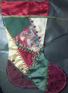 christmas stocking with original top