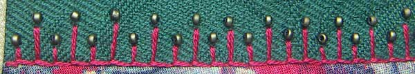 Herringbone Stitch with Beads