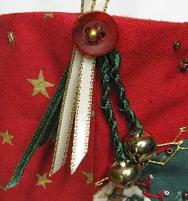 Detail of stocking hanger