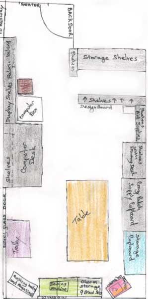studio floor plan before changes