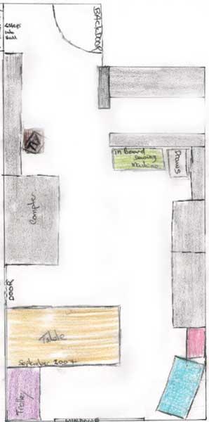 Studio floorplan Sep 2007