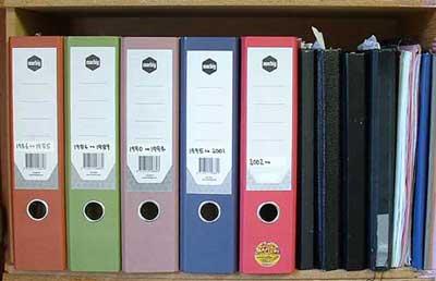 Pastel manila arch folders