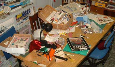 My Studio table on 20 march 05