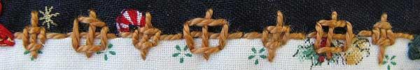 Alternating Rice and Boss stitch