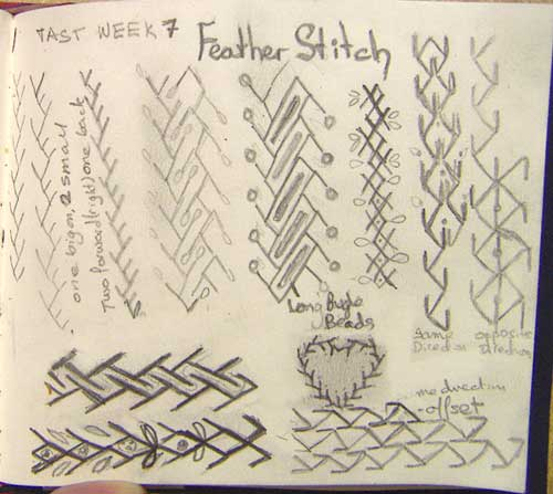 Feather stitch ideas